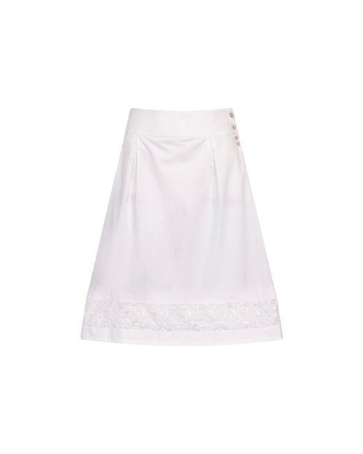 Sophie Cameron Davies - White Cotton Skirt - Lyst