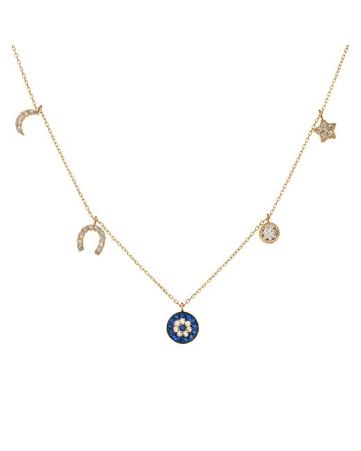 Talia Naomi - Metallic See No Evil Charm Necklace - Lyst