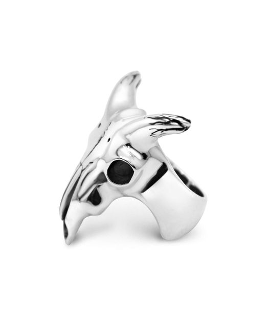 Hjälte Jewellery | Metallic Goat Skull Ring for Men | Lyst
