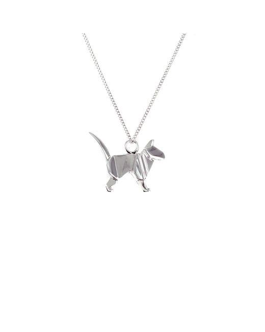 Origami Jewellery | Metallic Mini Cat Sterling Silver | Lyst