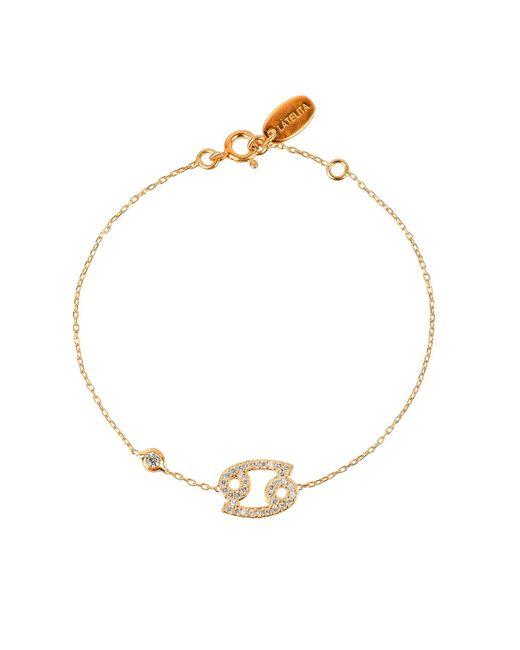 Latelita London - Metallic Zodiac Bracelet Gold Cancer - Lyst