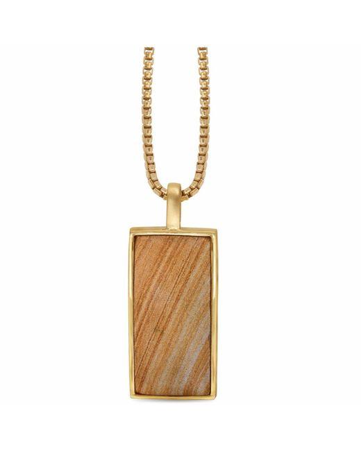 LMJ - Metallic Wood Jasper Stone Tag - Lyst