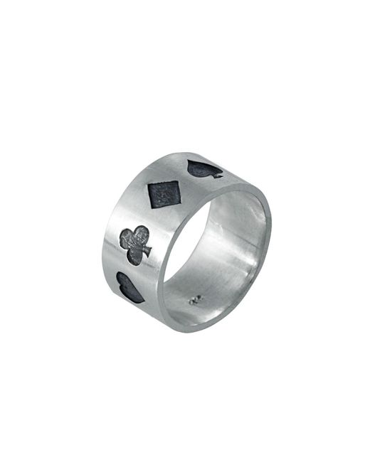 Edge Only - Black Poker Ring Oxidised Silver for Men - Lyst