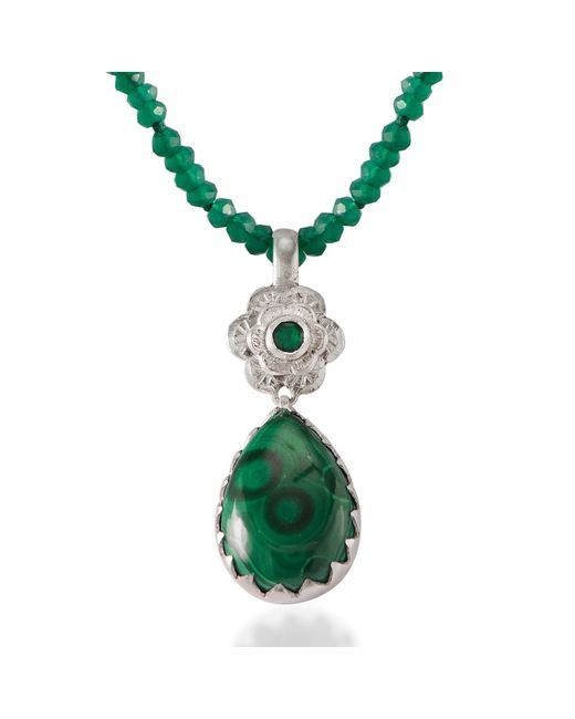 Emma Chapman Jewels | Green Gypsy Rose Malachite Pendant | Lyst