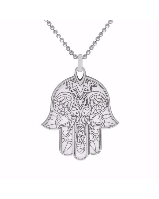 CarterGore - Metallic Silver Hamsa Hand Pendant Necklace - Lyst