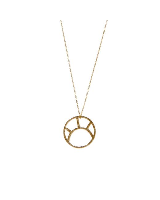 KIND Jewellery | Metallic Gold Soleil Pendant Necklace | Lyst