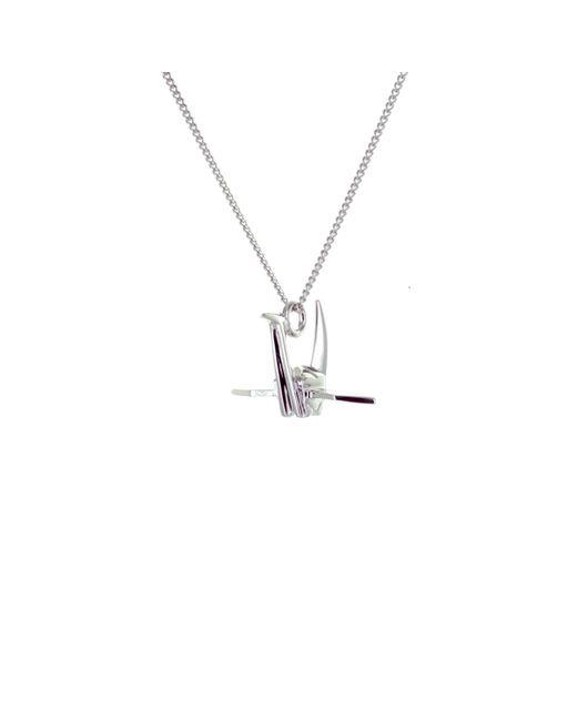 Origami Jewellery - Metallic Mini Crane Necklace Sterling Silver - Lyst