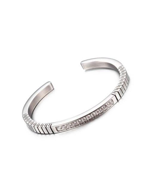 Opes Robur - Metallic Silver Roman Open End Cuff Bracelet - Lyst