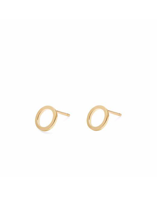 Myia Bonner - Metallic Gold Circle Stud Earrings - Lyst