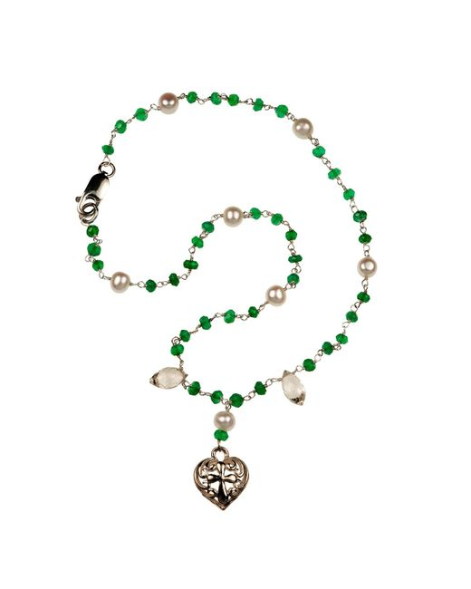 Xanthe Marina   Metallic Heart Cross Necklace   Lyst