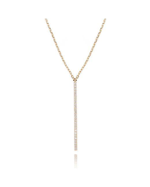 Astrid & Miyu | Metallic Hold On Big Bar Necklace In Gold | Lyst