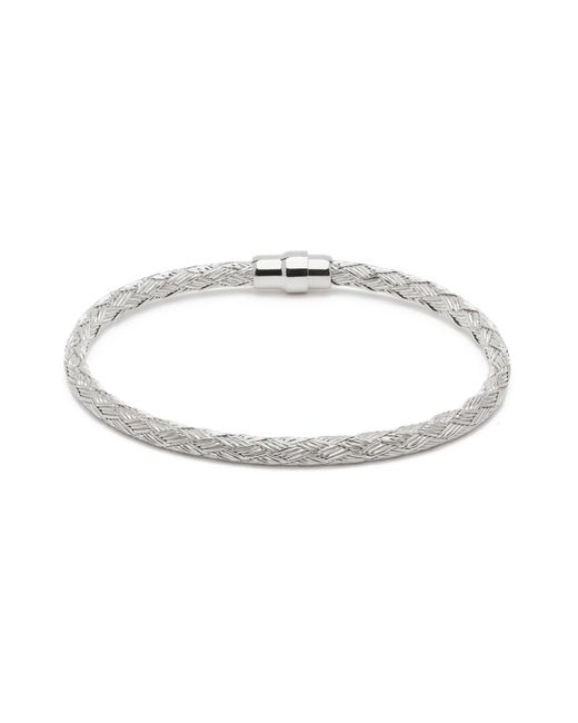 Durrah Jewelry - Metallic Silver Woven Bracelet For Her - Lyst