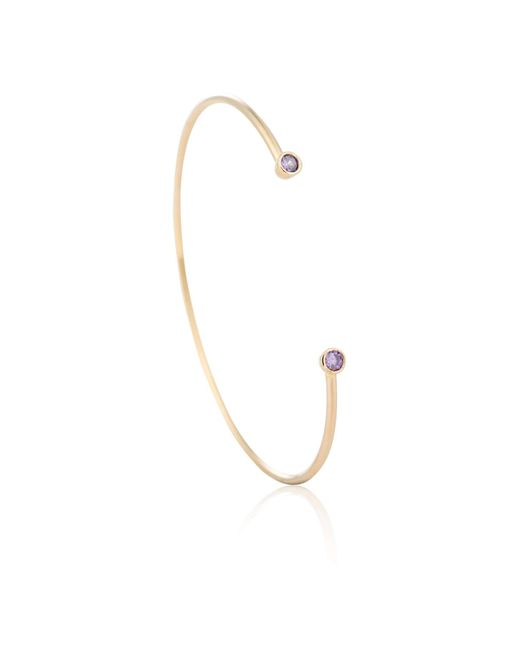 Astrid & Miyu - Metallic Zodiac Aquarius Bangle In Gold - Lyst