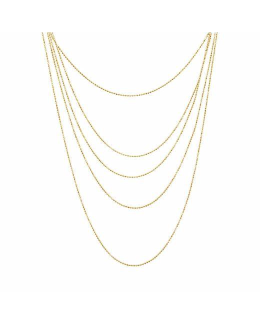 Talia Naomi | Metallic Beluga Infinity Chain Gold | Lyst