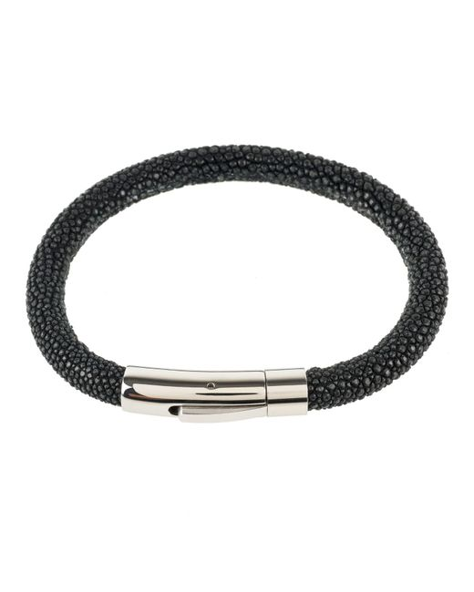 Latelita London | Sterling Silver Stingray Bracelet Black for Men | Lyst