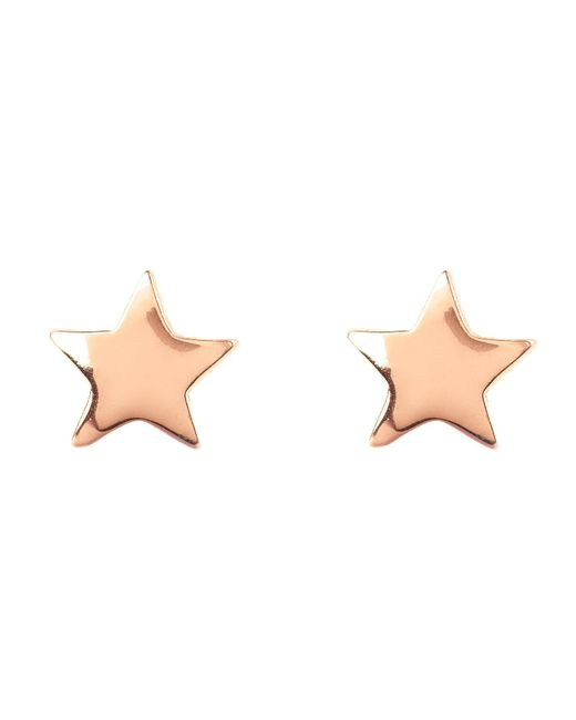 Latelita London - Pink Cosmic Mini Star Earring Rosegold - Lyst