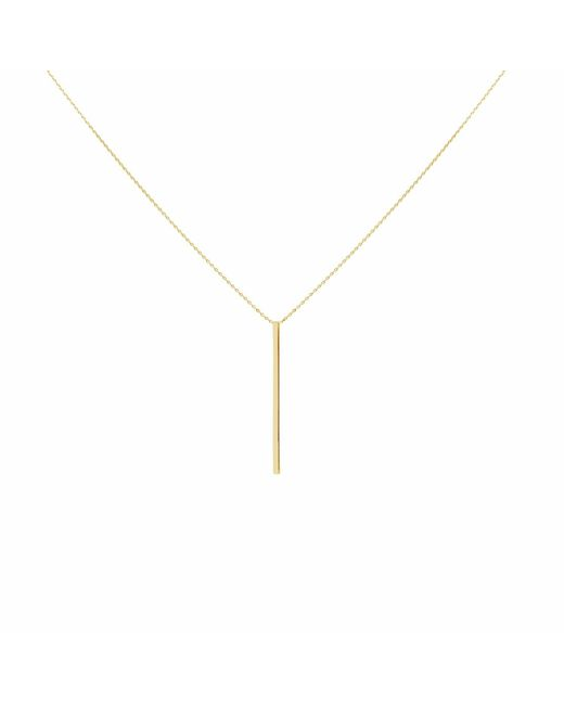 Talia Naomi | Metallic Drop Me A Line Necklace Gold | Lyst