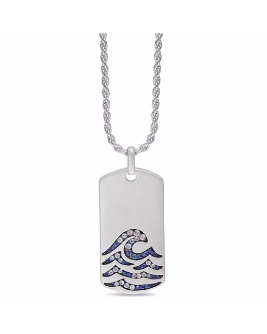 LMJ - Metallic Breaking Waves Stone Tag - Lyst