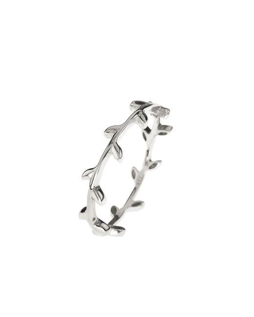 Latelita London | Metallic Cosmic Branch Ring Silver | Lyst