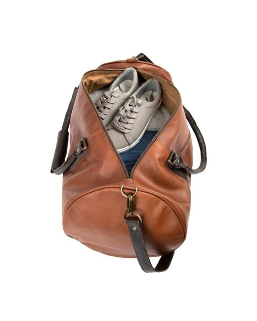 385ec539c826 ... MAHI Leather - Overnight gym Bag In Vintage Brown With Mahogany Detail  for Men ...