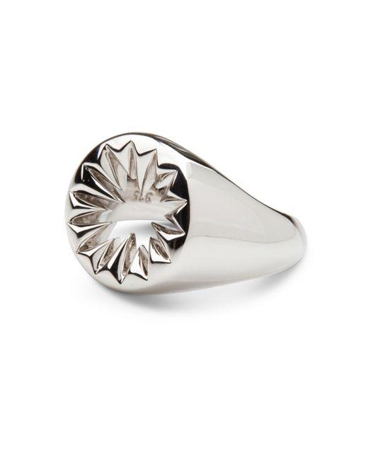 Kasun - Metallic Wild Crocodile Signet Ring Silver - Lyst