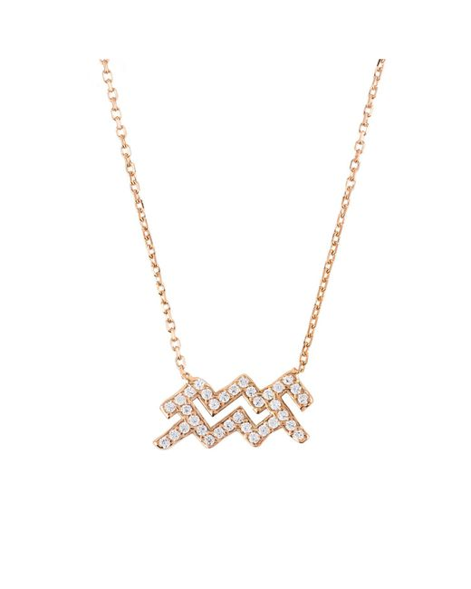Latelita London - Metallic Aquarius Zodiac Necklace - Lyst