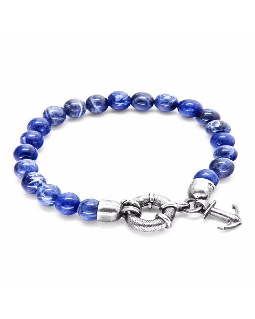Anchor & Crew | Multicolor Blue Sodalite Port Silver & Stone Bracelet for Men | Lyst