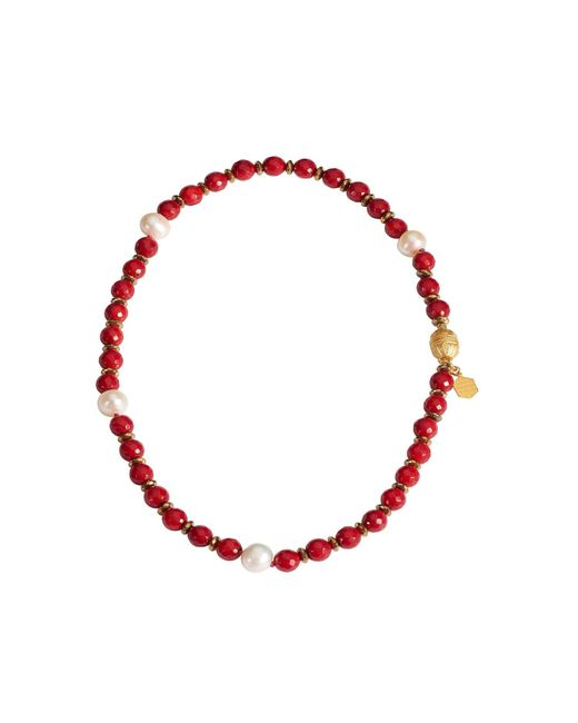 Mielini | Red Helena Necklace | Lyst