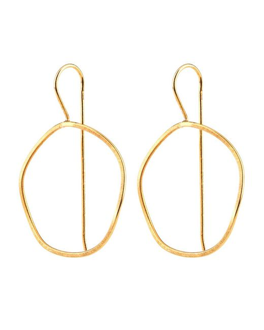 Dutch Basics | Metallic Waves Earrings Gold | Lyst