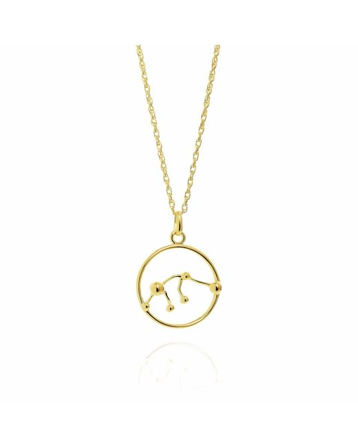 Yasmin Everley Jewellery | Metallic Aquarius Astrology Necklace In 9ct Gold | Lyst