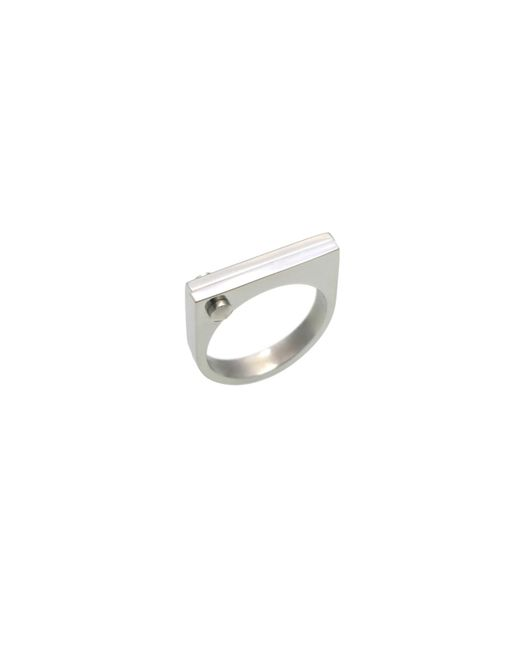 Opes Robur - Metallic Silver D Ring - Lyst