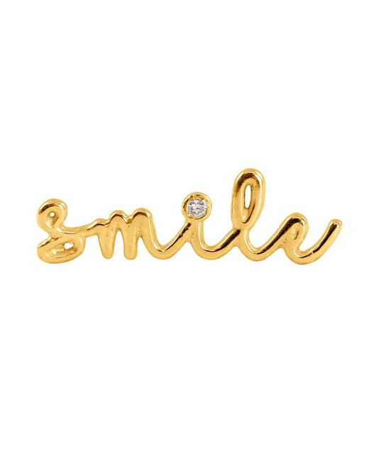 Lee Renee | Metallic Smile Diamond Single Slider Earring Right Ear | Lyst
