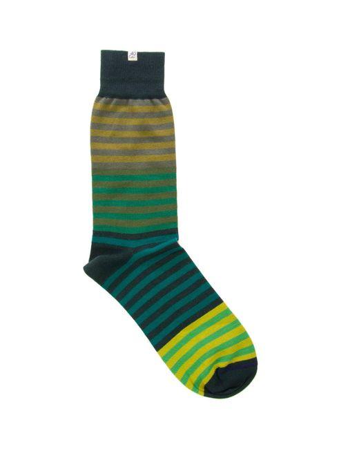 40 Colori - Green Gradient Striped Organic Cotton Socks for Men - Lyst