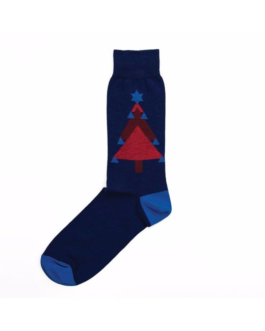 40 Colori - Blue Christmas Tree Organic Cotton Socks for Men - Lyst