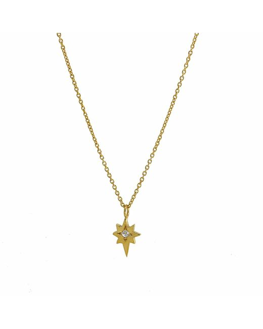 Yvonne Henderson Jewellery - Metallic North Star Necklace With White Sapphire Gold - Lyst