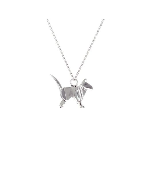Origami Jewellery - Metallic Mini Cat Sterling Silver - Lyst