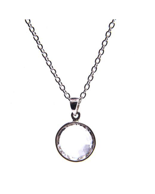 Puck Wanderlust   Metallic Clear Quartz Silver April Birthday Charm Necklace   Lyst