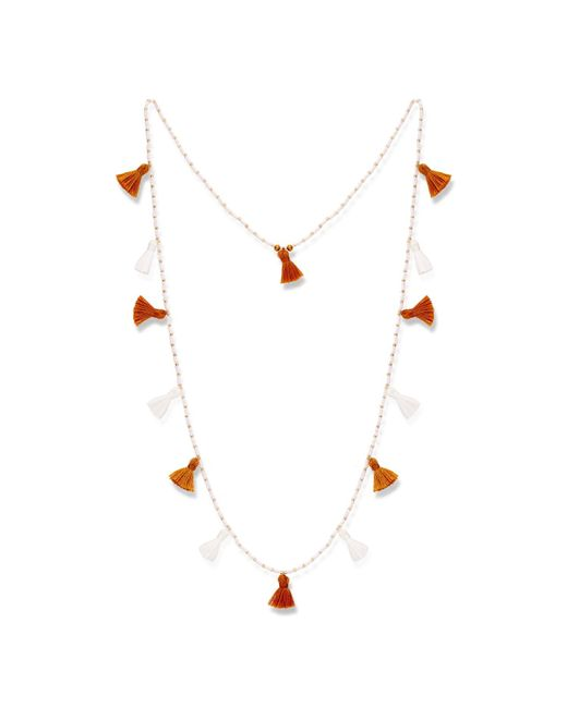 Alexandra Alberta - White Bosworth Tassle Necklace - Lyst