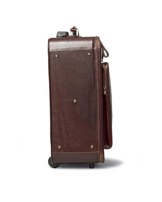 Maxwell scott bags Luxury Italian Leather Suitcase With Wheels ...