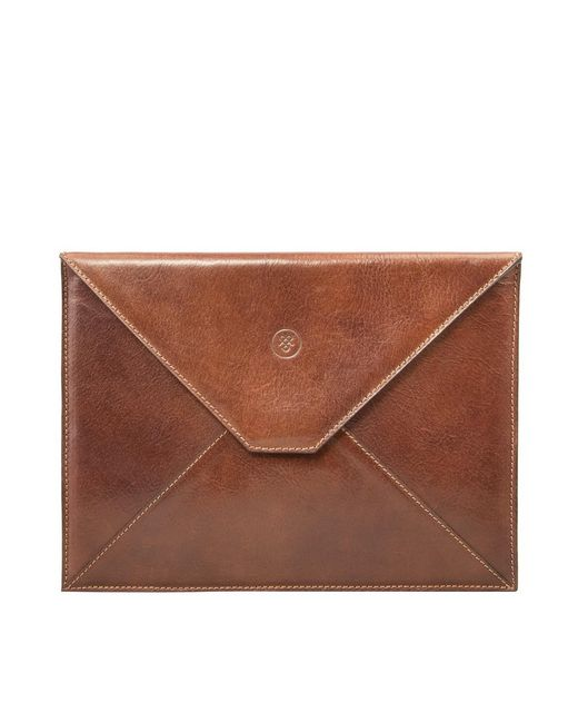 Maxwell Scott Bags | Brown Quality Tan Leather Ipad Mini Case The Pico for Men | Lyst