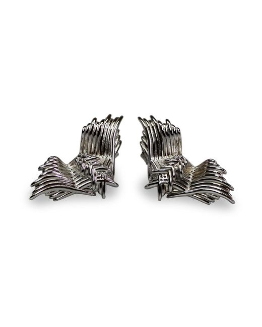 Bellus Domina - Metallic Angel Wing Stud Earrings - Lyst
