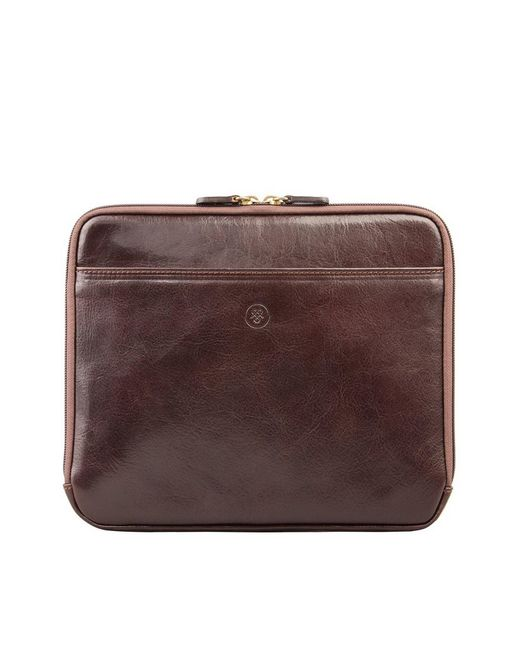 Maxwell Scott Bags | Brown Luxury Tan Leather Ipad 2 Case The Luzzi for Men | Lyst