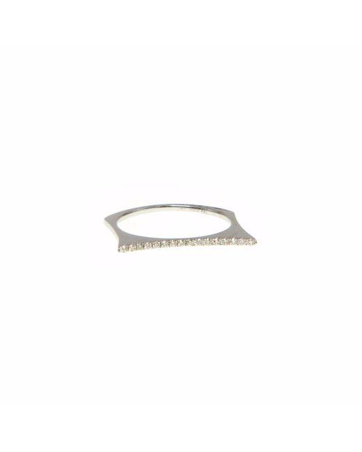 Ri Noor | Metallic Raised Bar Diamond Ring | Lyst