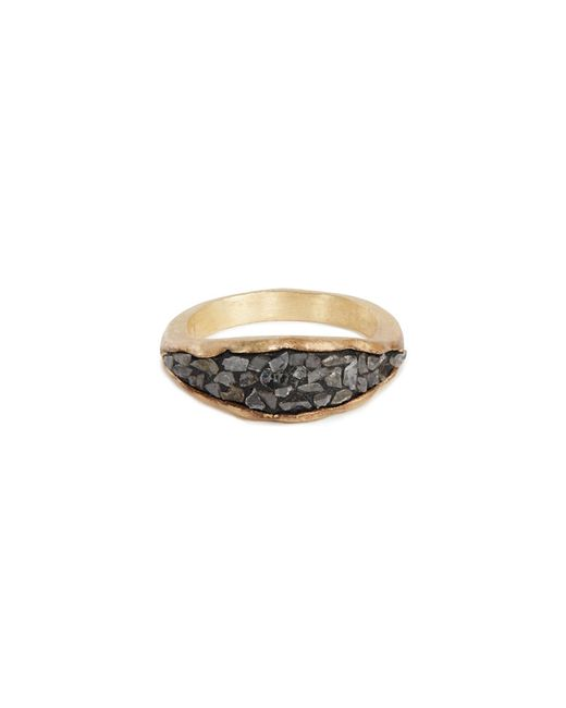 Yucama | Multicolor Crushed Black Diamond Ring | Lyst