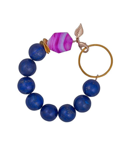 Magpie Rose | Blue Lapis Lazuli & Rose Quartz Vermeil Bracelet | Lyst