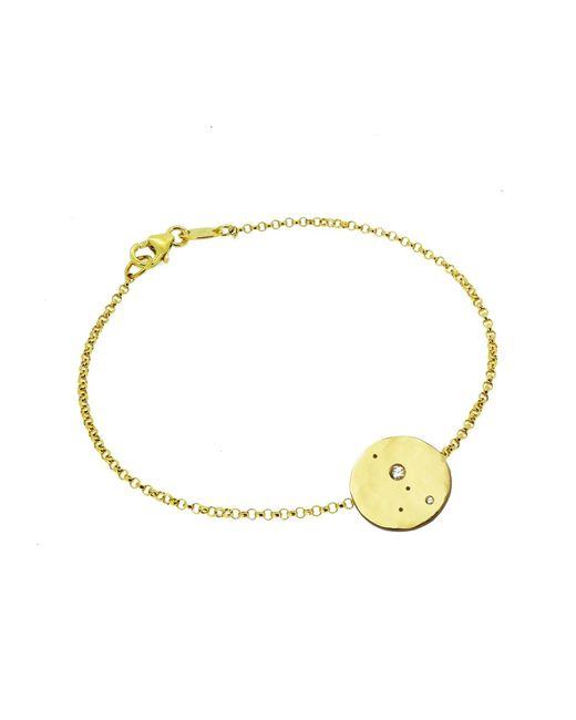 Yvonne Henderson Jewellery - Metallic Cancer Constellation Bracelet With White Sapphires Gold - Lyst