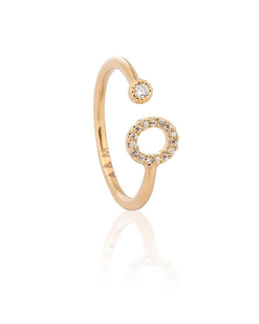 Astrid & Miyu - Metallic Gold Initial O Ring - Lyst
