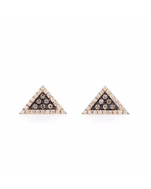 Olivia Grace Jewellery | Metallic Rose Gold Trillion Earrings | Lyst