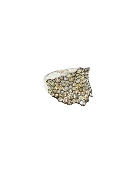 Ri Noor | Metallic Fancy Yellow Diamond Ring | Lyst
