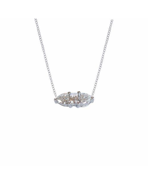 Ri Noor - Metallic Three Fancy Diamond Horizontal Necklace - Lyst